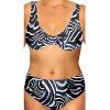 Dámské plavky dvoudílné pro plnoštíhlé s kosticemi P41v61x