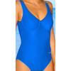 Dámské plavky jednodílné s kosticemi P601 modrá
