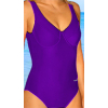 Dámské plavky jednodílné s kosticemi P601 fialová