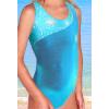 Dívčí sportovní plavky jednodílné PD213sl tyrkysová