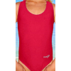 Dívčí sportovní plavky jednodílné PD31 červená