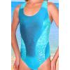 Dívčí sportovní plavky jednodílné PD513sl tyrkysová