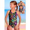 Dívčí sportovní plavky jednodílné PD533v446