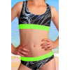 Dívčí sportovní plavky dvoudílné PD541v459 s reflexní zelenou