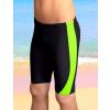 Chlapecké sportovní plavky PD29c černá s reflexní zelenou