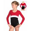 Gymnastický dres B37d-12 černo-červená