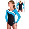 Gymnastický dres B37d-16 tyrkysovo-bílá