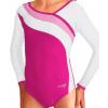 Gymnastický dres B37d-16 růžovo-bílá