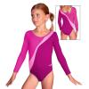 Gymnastický dres B37d-4 tyrkysovo-bílá