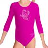 Gymnastický dres S37tr_f3 tmavě růžová