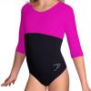 Gymnastický dres S37tr-dv černo-tmavě růžová