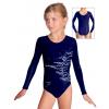 Gymnastický dres závodní D37dsl_F300 tmavě modrá