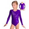 Gymnastický dres závodní D37dsl_k306 fialová