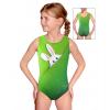Gymnastický dres závodní D37r-t200 zelená