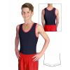 Gymnastický dres chlapecký D37chnl černo červený lesklý
