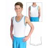 Gymnastický dres chlapecký D37chnl bílo modrý matný