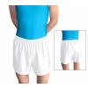 Gymnastické šortky závodní D36gs bílé matné