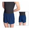Gymnastické šortky závodní D36D36gs_2 úzké, krátké tmavě modré lesklé