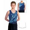 Gymnastický dres chlapecký D37chn_t404 modrá
