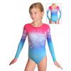 Gymnastický dres závodní D37d_t113 s růžovou