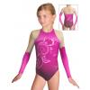 Gymnastický dres závodní D37d-54 t502 růžová