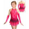 Krasobruslařské šaty - trikot K739 t502 růžová