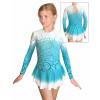Krasobruslařské šaty - trikot K739 t600 tyrkysová