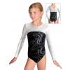 Gymnastický dres závodní D37d-1 černobílý