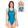Dámské sportovní plavky jednodílné P622  tyrkysová metalíza
