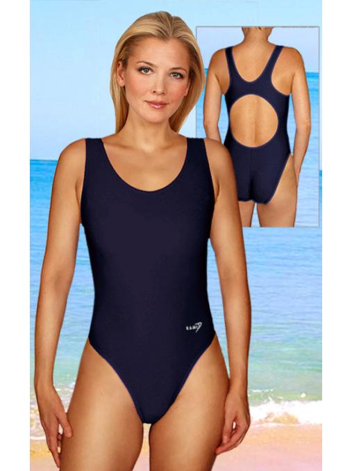 Dámské sportovní plavky jednodílné P1 černá