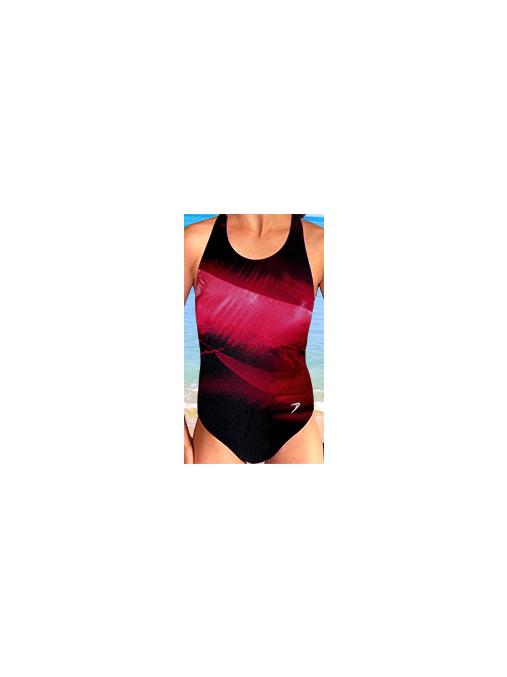 Dívčí sportovní plavky jednodílné PD533v_3x