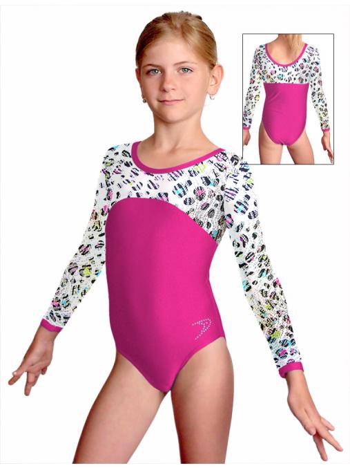 Gymnastický dres závodní D37d-1v463 růžová