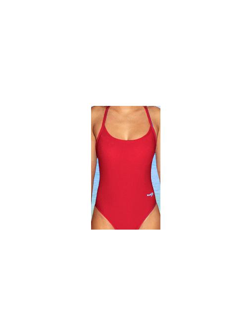 Dámské sportovní plavky jednodílné P250 červená