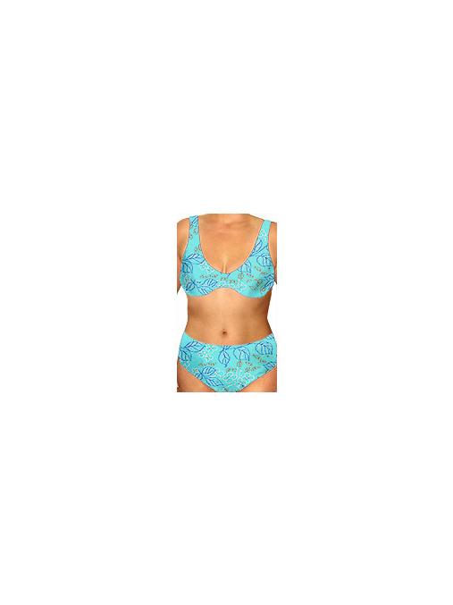 Dámské plavky dvoudílné pro plnoštíhlé s kosticemi P41v201x