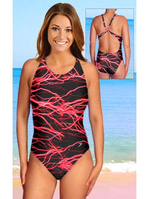 Dámské sportovní plavky jednodílné P620v450