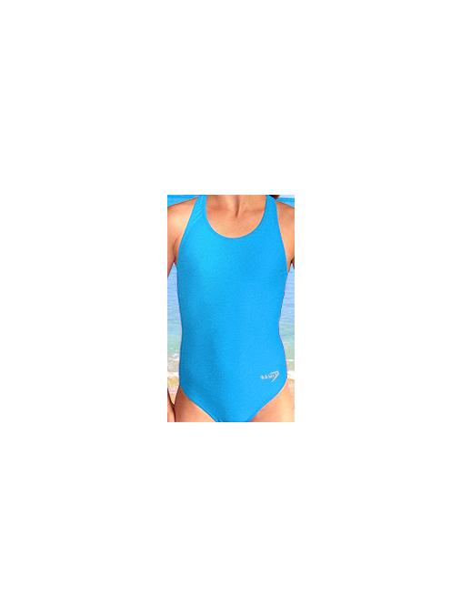 Dívčí sportovní plavky jednodílné PD533 tyrkysová