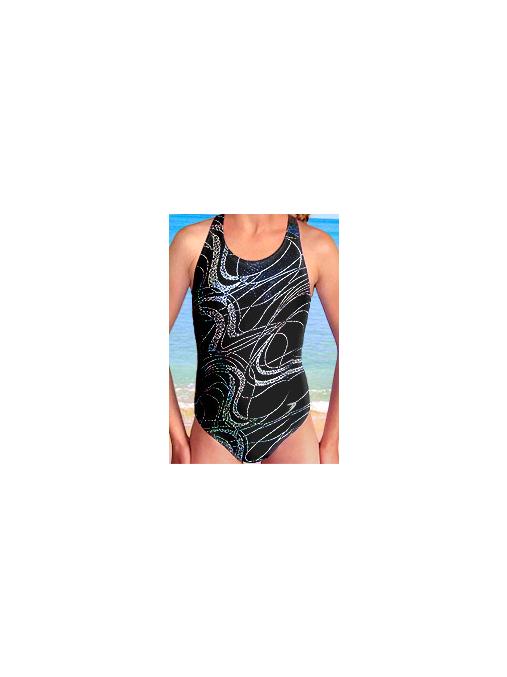 Dívčí sportovní plavky jednodílné PD545v459