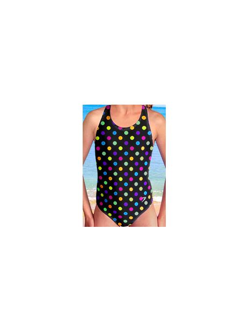 Dívčí sportovní plavky jednodílné PD545v488