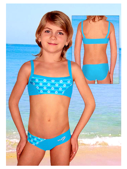 Dívčí plavky dvoudílné PD505v429