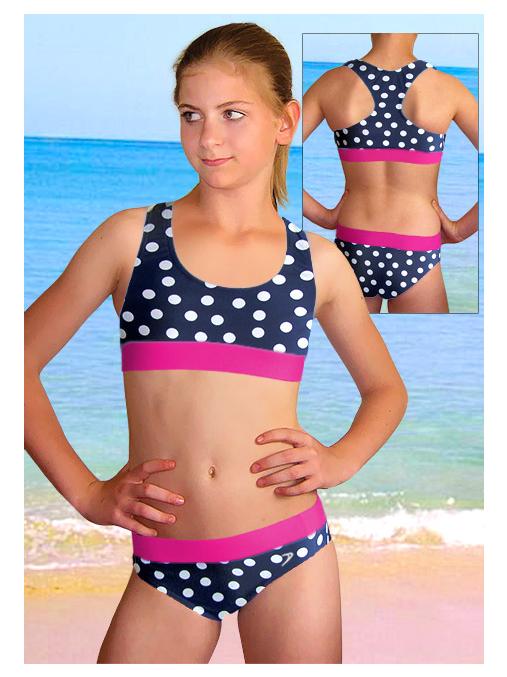 Dívčí sportovní plavky dvoudílné PD541v484