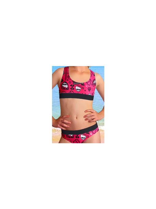Dívčí sportovní plavky dvoudílné PD541v481