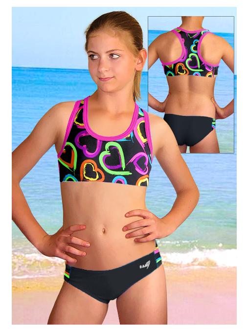 Dívčí sportovní plavky dvoudílné PD543v449