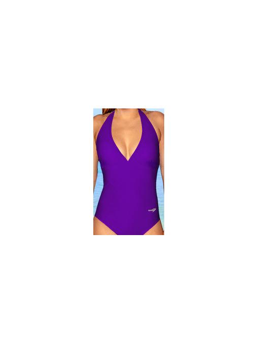 Dámské  plavky jednodílné P253 fialová