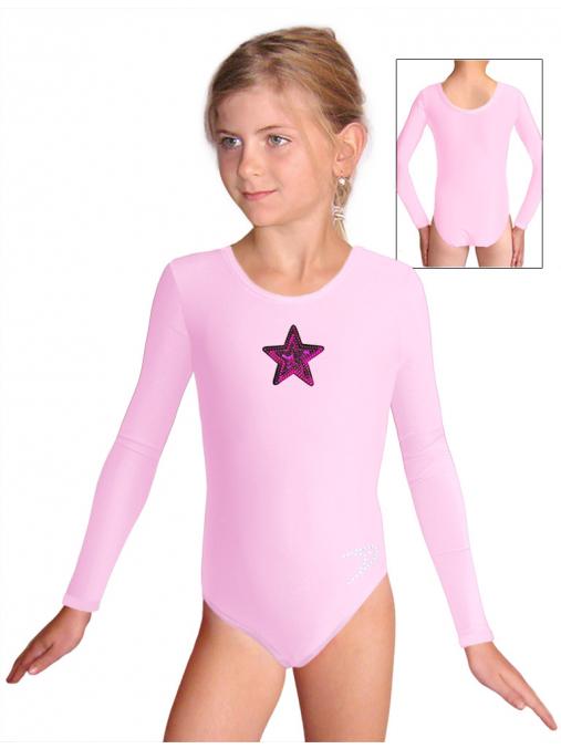Gymnastický dres B37d_n7 světle růžová