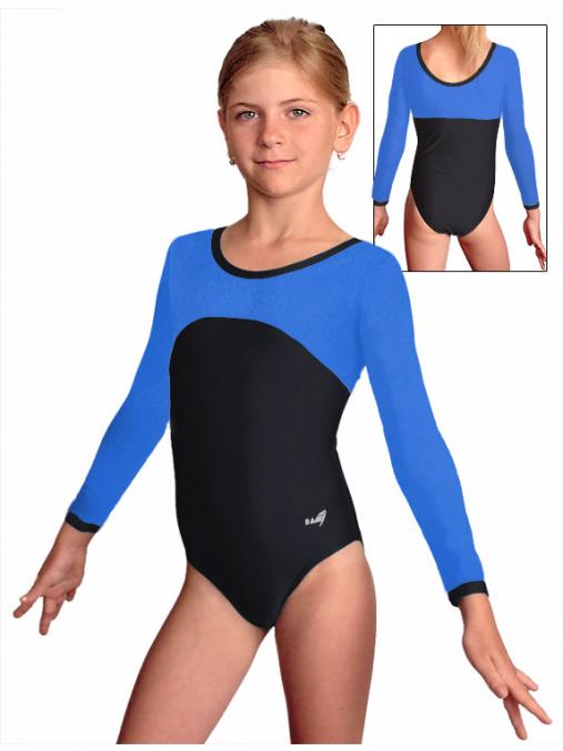 Gymnastický dres B37d-1 černo-modrá