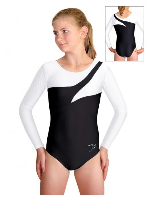 Gymnastický dres B37d-29 černo-bílá