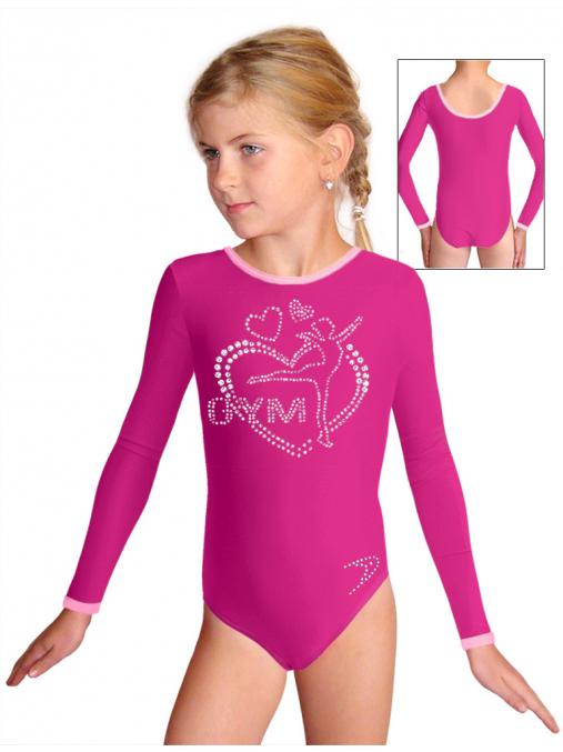 Gymnastický dres B37d-58_f14 růžová