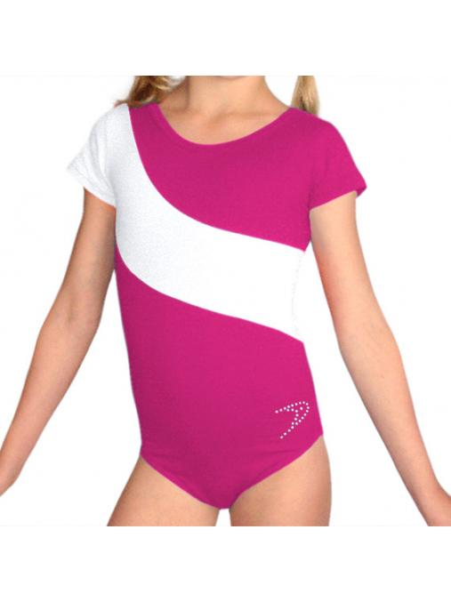 Gymnastický dres B37kk-dv růžovo-bílá