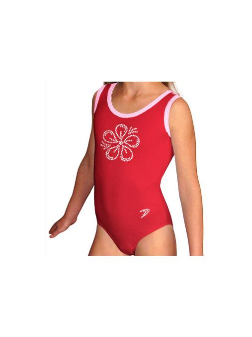 Gymnastický dres B37r_f4 červená