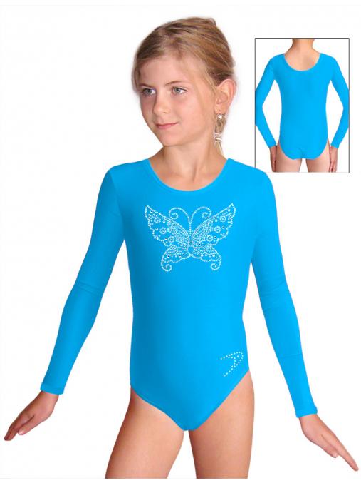 Gymnastický dres S37d_k310 tyrkysová